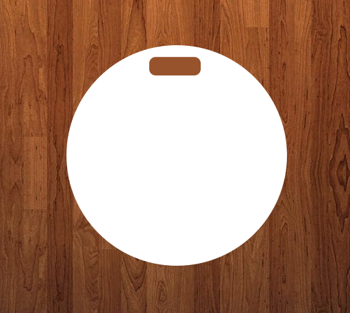 Round tag 4x4 -  Sublimation Blank MDF Single and double sided