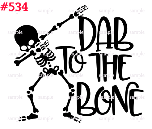 Sublimation print - Dab to the bone #534