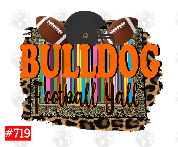 Sublimation print - Bulldog football yall #719