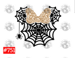 Sublimation print - Spiderweb Halloween #751