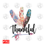 Sublimation print - Thankful Feathers #762