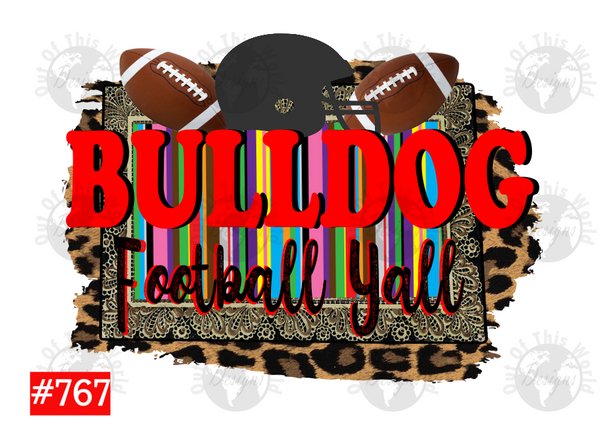 Sublimation print -Bulldog Football Yall #767
