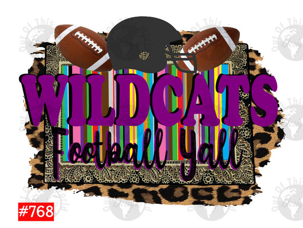 Sublimation print - Wildcats Football Yall #768