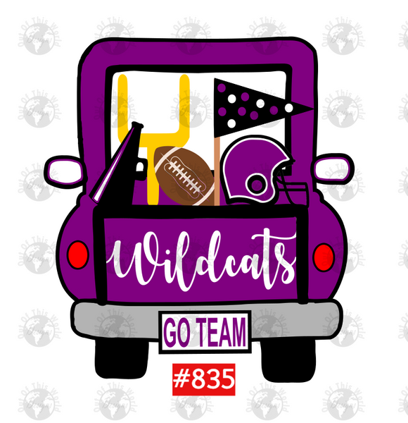 Sublimation print -  Wildcats Football Truck #835