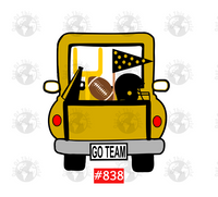 Sublimation print -  Gold Football Truck #838