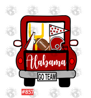 Sublimation print - Alabama Football Truck #857