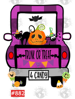 Sublimation print - Trunk or Treat Truck #882