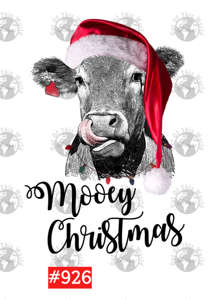 Sublimation print - Mooey Christmas Cow #926