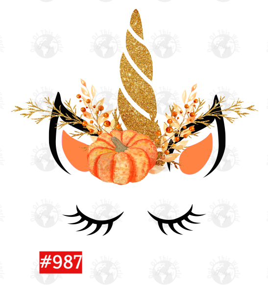 Sublimation print - Pumpkin Unicorn #987