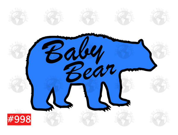 Sublimation print - Baby Bear Blue #998