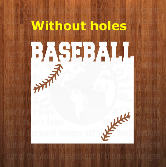 Baseball WITH laces top frame withOUT holes - 3 different sizes use drop down bar -  Sublimation Blank MDF Single Sided