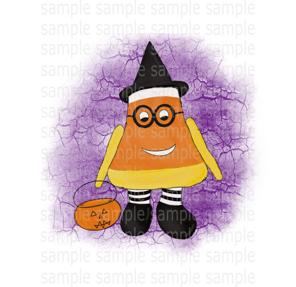 (Instant Print) Digital Download - Candy corn witch