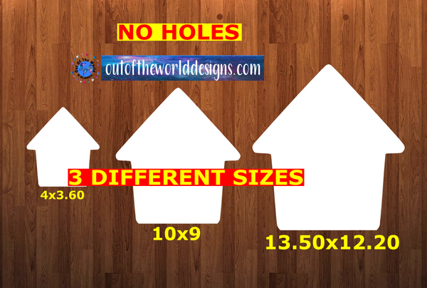 WITHOUT HOLES - Dog house - Wall Hanger - 3 sizes to choose from -  Sublimation Blank  - 1 sided  or 2 sided options