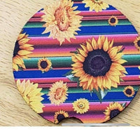 Sublimation print - Sunflower car coasters 6pack
