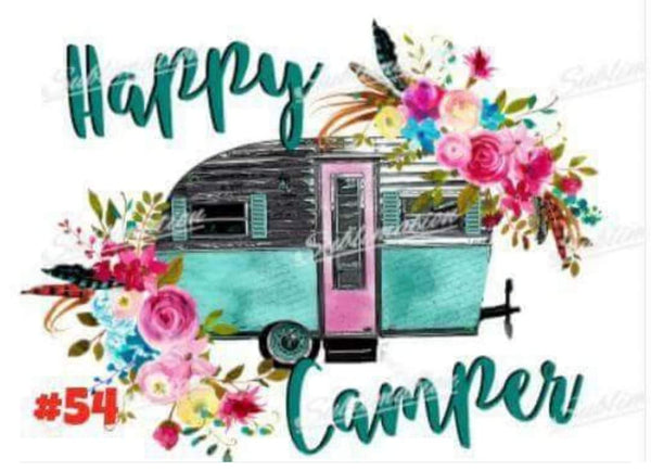 Sublimation print - Happy Camper #54