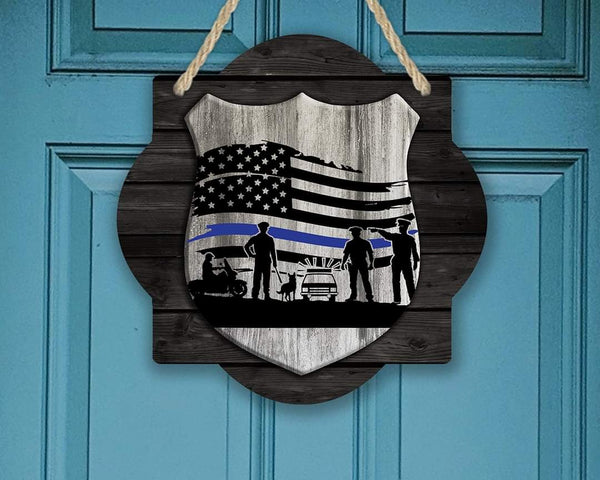 Sublimation print - Police shield flag - Made for our MDF sublimation blanks
