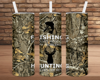 (Instant Print) Digital Download - Fishing solves most of my problems Hunting solves the rest - made for our 20oz tapered tumbler