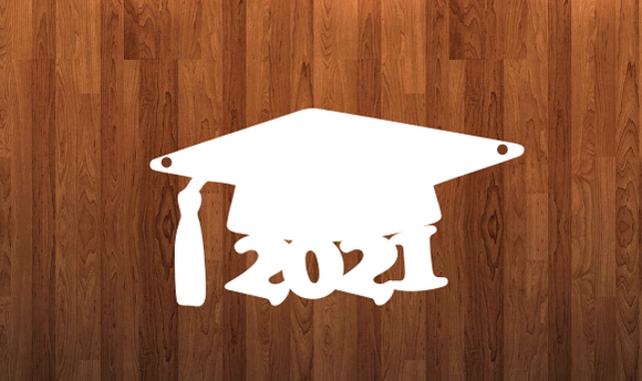 Graduation cap 2021 Door - Wall Hanger - 3 sizes to choose from -  Sublimation Blank  - 1 sided  or 2 sided options