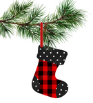 Sublimation print ONLY - Plaid and polka dot - Stocking   - Made for our MDF sublimation