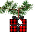 Sublimation print ONLY - Plaid and polka dot gift  - gift   - Made for our MDF sublimation blanks