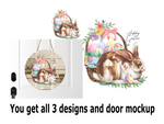 (Instant Print) Digital Download -  3pc Happy Easter bunny set