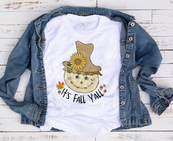 (Instant Print) Digital Download - It's fall y'all scarecrow