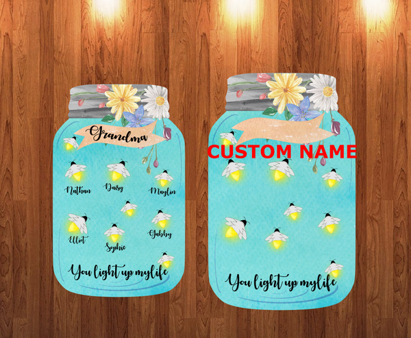 Sublimation print - Personalized names - Light up my life ( we offer the blank hanger)