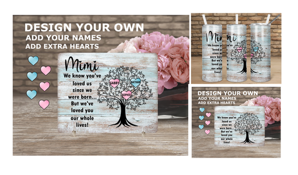 Digital download - Personalized Mothers Day design - 4pc bundle
