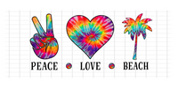 (Instant Print) Digital Download - PEACE - LOVE - BEACH