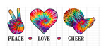 (Instant Print) Digital Download - PEACE - LOVE - CHEER