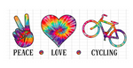 (Instant Print) Digital Download - PEACE - LOVE - CYCLING