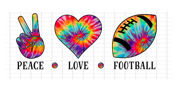 (Instant Print) Digital Download - PEACE - LOVE - FOOTBALL