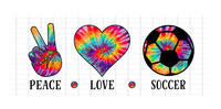 (Instant Print) Digital Download - PEACE - LOVE - SOCCER