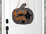 (Instant Print) Digital Download - Welcome to our haunted place pumpkin