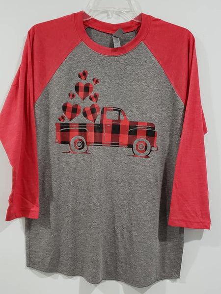 Buffalo plaid truck screen print