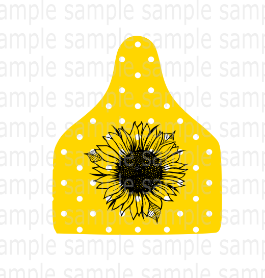 (Instant Print) Digital Download - Sunflower cattle tag