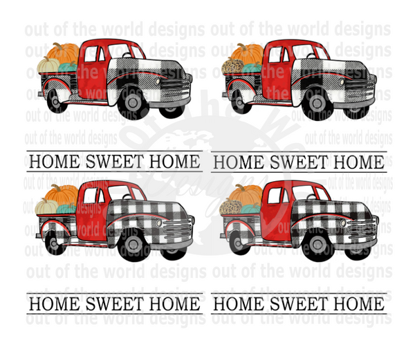 (Instant Print) Digital Download -  Bundle 4 designs , Home sweet home (add your own personalized name)