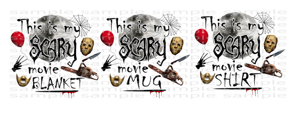 (Instant Print) Digital Download - This is my scary movie bundle of 3 designs