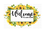 (Instant Print) Digital Download - Welcome to our home (add your own last name)