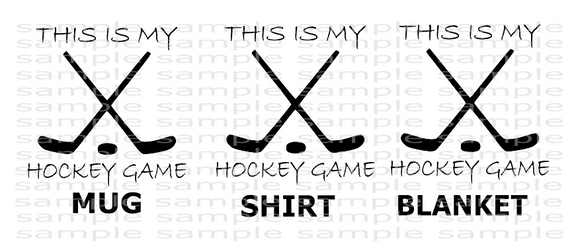 (Instant Print) Digital Download - This is my hockey bundle set 3pc