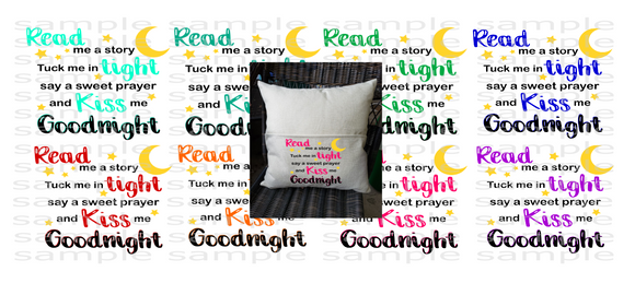 (Instant Print) Digital Download - ( BUNDLE 8PC) Read me a story and tuck me in tight say a sweet prayer and kiss me goodnight