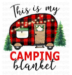 (Instant Print) Digital Download - This is my camping blanket