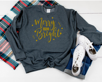 Heat Transfer (screen print)  Merry and Bright