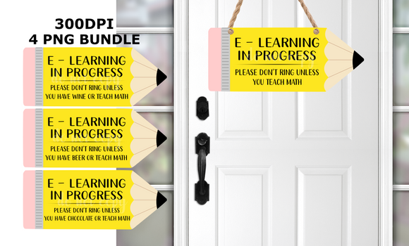 (Instant Print) Digital Download - E- Learning Pencil Bundle 4 pencils - made for our  blanks