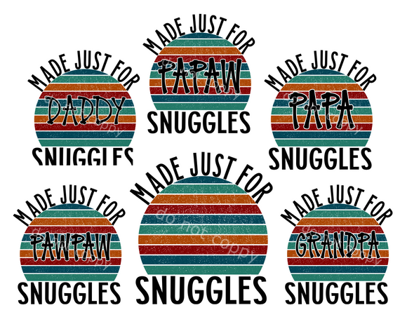 (Instant Print) Digital Download - Made just for (add your name or a pre-made name, you get 6) snuggles