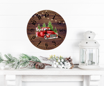 Sublimation print (ONLY) - Cow & Red truck Christmas clocks- Made for our sublimation blanks