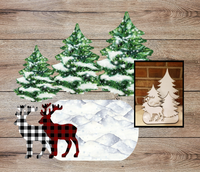 Digital download ( Instant Print ) 6pc Deer and tree table top set - made for our blanks