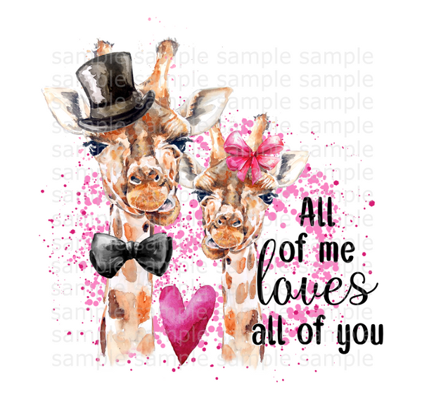 (Instant Print) Digital Download - All of me loves all of you