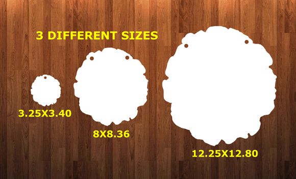 Wood Slice circle with holes - Wall Hanger - 3 sizes to choose from -  Sublimation Blank  - 1 sided  or 2 sided options
