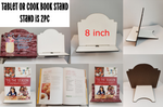 8 inch tablet or cookbook stand - MDF Sublimation blank